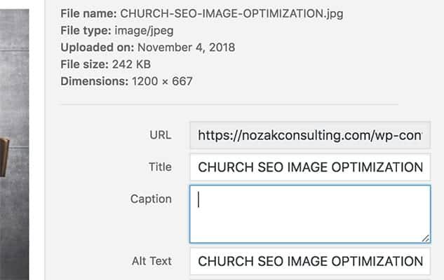 Wordpress title and alt text copy