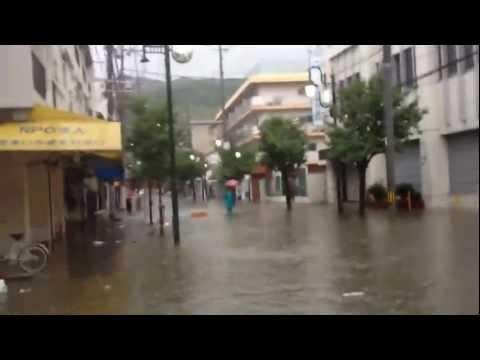 野崎参道商店街浸水しました(T ^ T)
