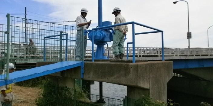 金目川の水門の津波対策