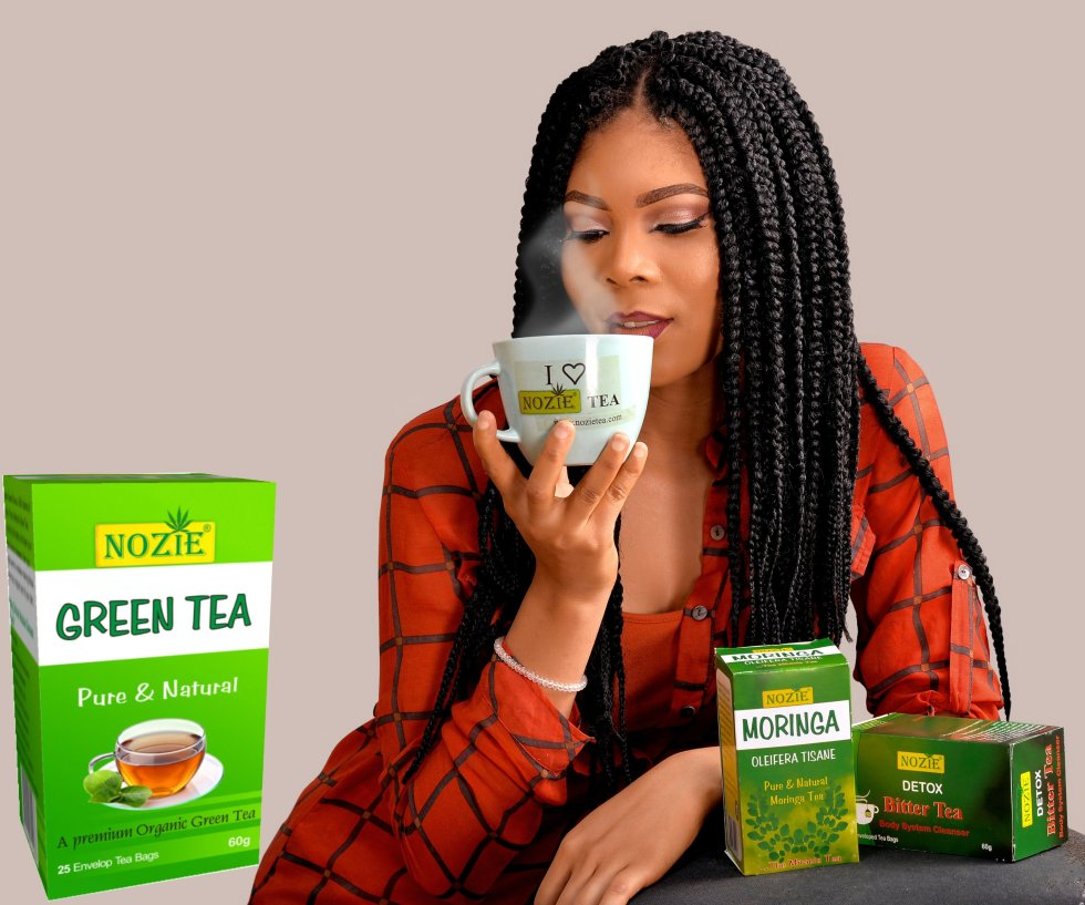Beautiful lady drinking tea