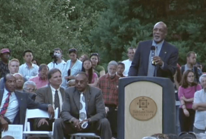 Dr. John Carlos @ SJSU Statue Unveiling Ceremony – Introduction by Peter Norman