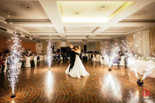 fontane d'artificio matrimonio primo ballo sposi