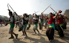 Magar youths dance to celebrate the Maghi festival in Kathmandu. Magars are one of Nepal's larger indigenous ethnic groups. They make up seven per cent of the total population.REUTERS/SHRUTI SHRESTHA