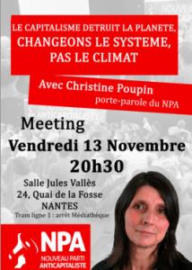 NPA Nantes climat christine poupin affiche image