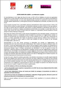 CGT FSU Solidaires Notre dame des Landes