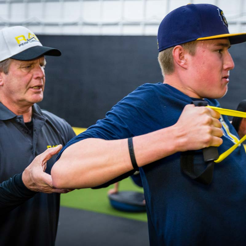 NPA West Coach Wishmyer and Athlete Training