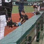 【悲報】西武・栗山の打球がソフトバンク・柳田の頭部に直撃…病院へ(画像)