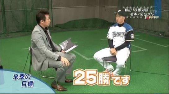 日ハム斎藤佑樹さん「25勝します(キリッ)」