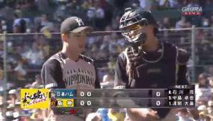 【速報】日ハム斎藤佑樹さん、阪神相手に2回3奪三振でパーフェクトゲーム継続中