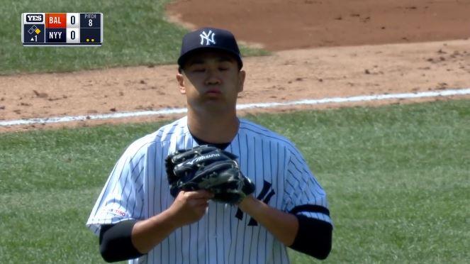 ヤンキース田中マー君、開幕戦初勝利 5回2/3 2失点の好投