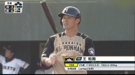 【悲報】大王・王柏融 .176(17-3) 0本 3打点 3三振