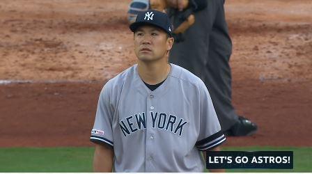 【GIF】ヤンキース田中将大、アルトゥーベに特大ホームランを打たれる