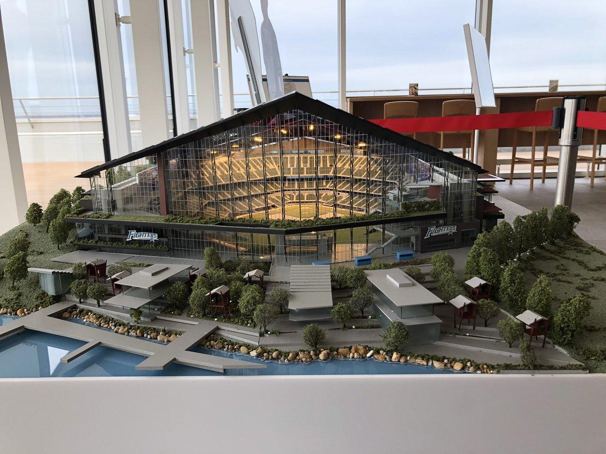 【画像】日本ハムの新球場模型wwwwww