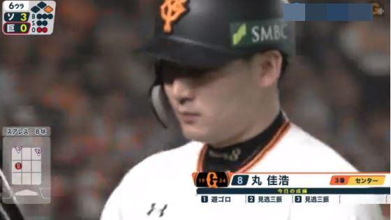 巨人・丸佳浩 .丸丸丸(12-丸)