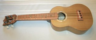 My first 'ukulele - concert with inlay