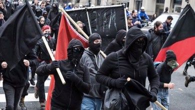 "Photo of Antifa is a force for good because it literally stands for ""Anti-Fascist"" but conservatives never get it"