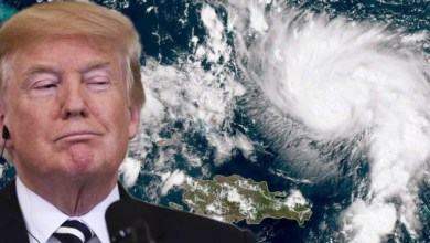 Photo of Hurricane Dorian is directly caused by Trump's racist and misogynistic climate denial policies