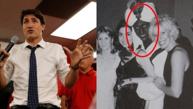 Photo of BREAKING: Justin Trudeau exposed as a white supremacist from bigoted blackface picture