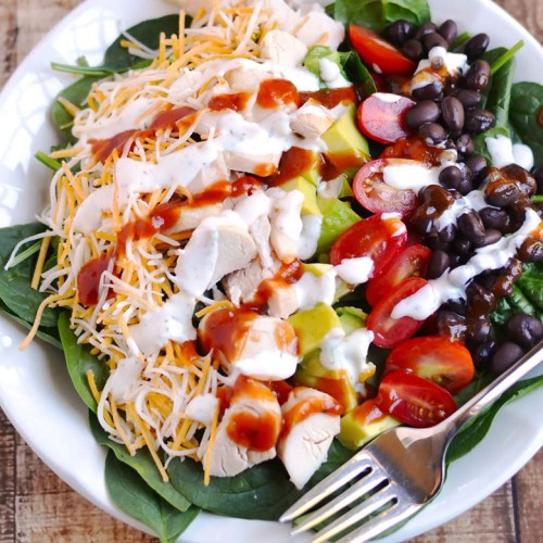 barbecure ranch chicken salad