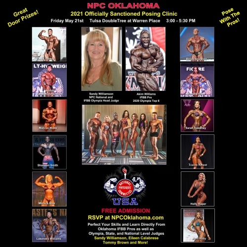 2021 NPC Oklahoma Posing Seminar Poster
