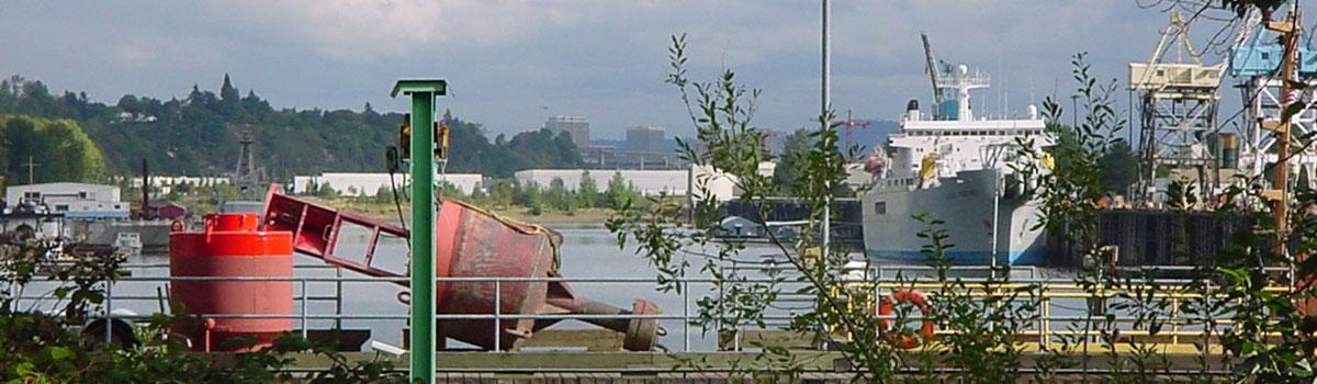 Industrial dock near npGREENWAY trail