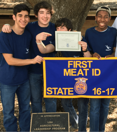 State Champion_Meat Identification_Dylan Price, Seth Woodel, Bradley Possoit, and Kirhawnte Dudley