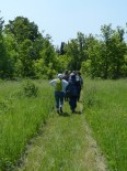 Hikers on the Cation Wildlife Preserve Trails.