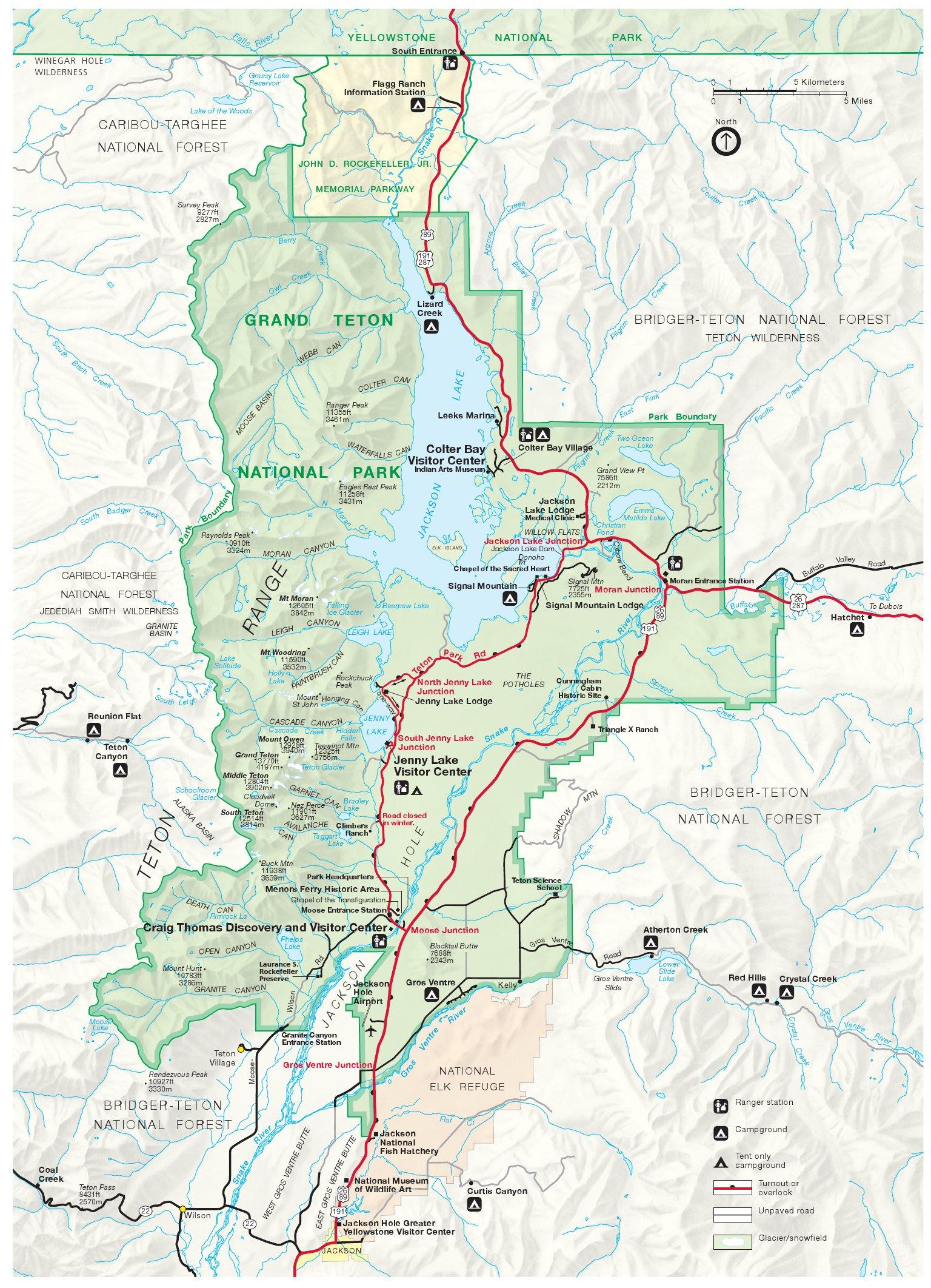 Grand Teton Maps Npmaps