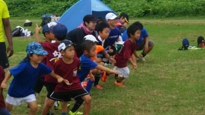 大阪中央ラグビースクールとの合同練習