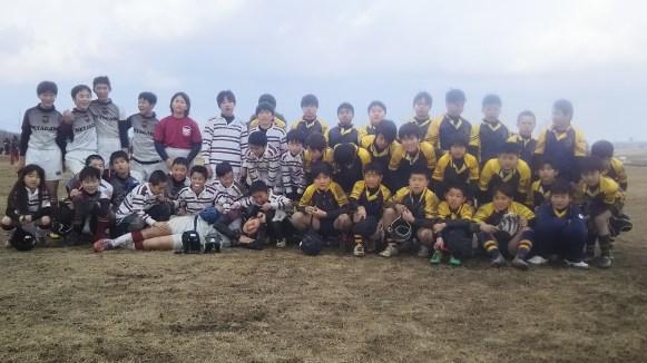 アウル洛南jr R.F.C合同練習