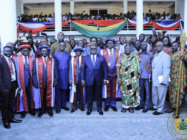 """""""PROMOTE THE SPIRIT OF RECONCILIATION"""" – PRESIDENT AKUFO-ADDO TO NEW UEW VICE CHANCELLOR"""