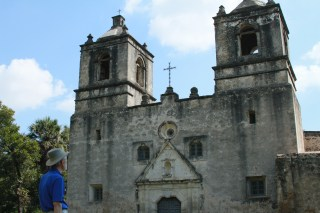 George Dawson looking at Mission Concepcion