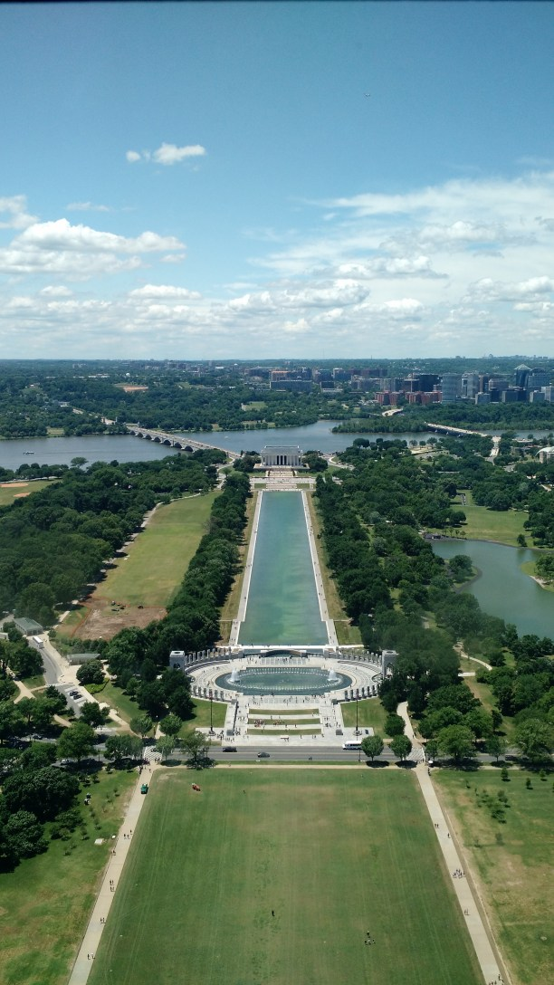 The view from the top of the Washington Monument
