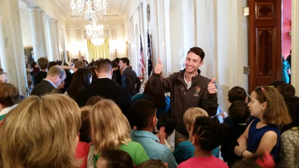 Taking 4th graders through the White House with a smile on my face