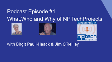 NPTechProjects Podcast: Episode 1 square cover