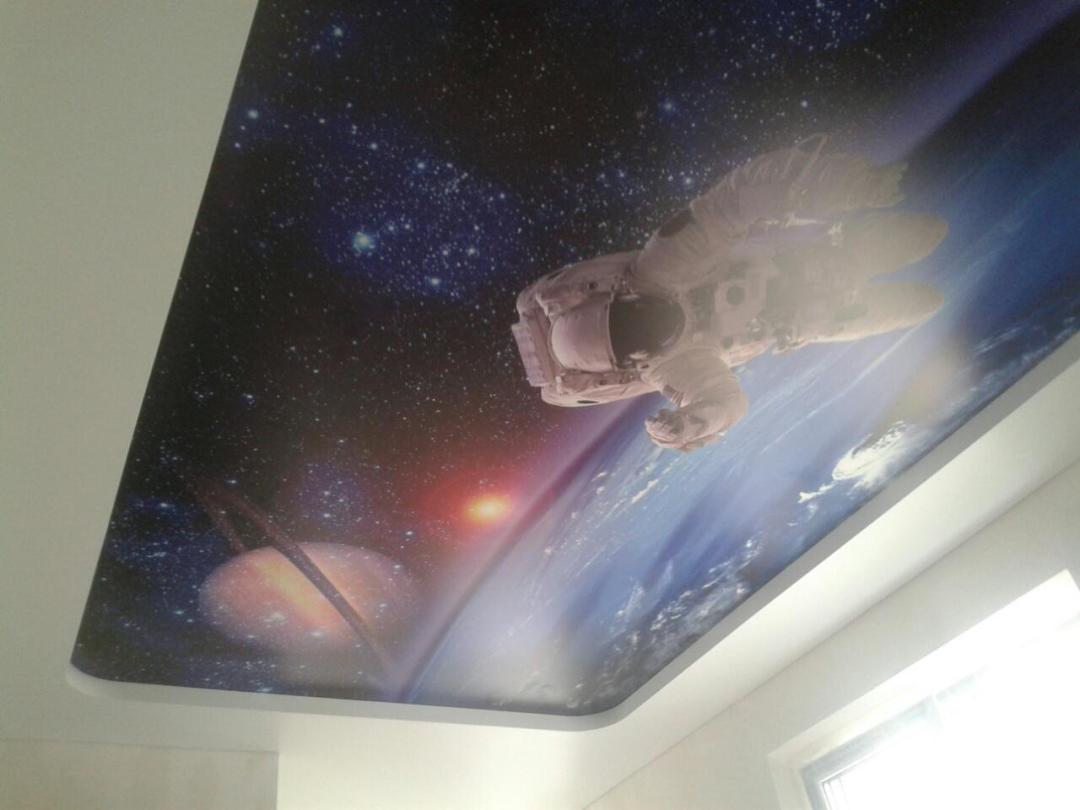 Потолки с фотопечатью на сатине2