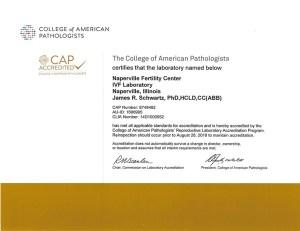 CAP Certificate