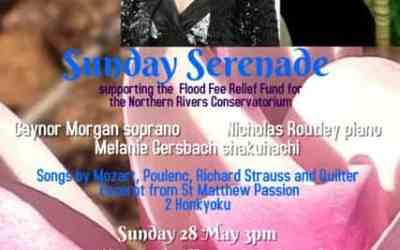 Sunday Serenade – This Sunday 28th May