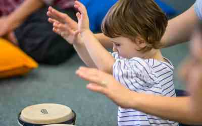 Music class for little ones at Playground Festival