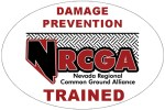 Hard hat sticker given to those who take the NRCGA's excavator training