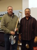 Ted Pistone, NUCA Executive Director, presented the Silver Shovel Award to Greg Walker, KNL Construction.