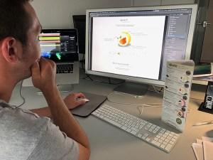 Erstellung des Screendesigns für unseren Neukunden njushi - NOTREAL - Digitale Kommunikation