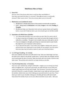 Mindfulness Menu of Ideas_Page_1
