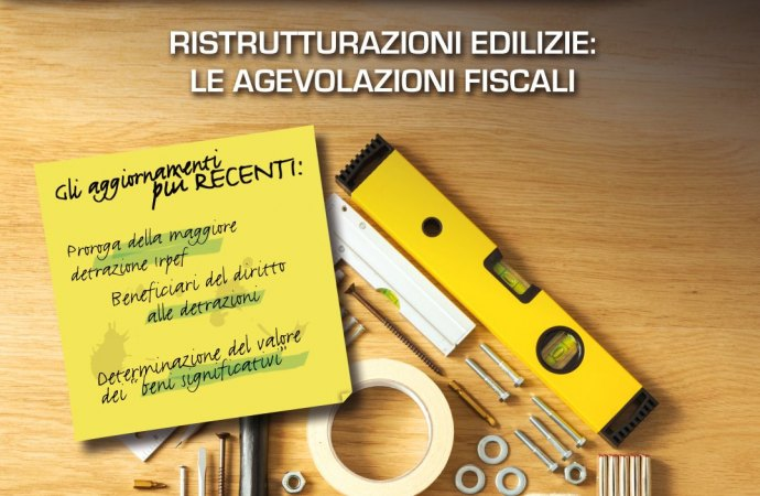 agevolazioni fiscali ristrutturazioni edilizie