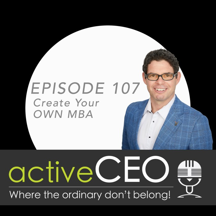 active CEO Podcast 107 Craig Johns Create Your Own MBA NRG2Perform Coaching Speaker