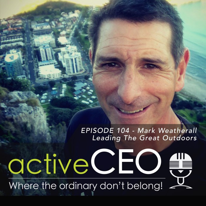 active CEO Podcast #104 Mark Weatherall Te Araroa Surf Lifesaving New Zealand Leading The Great Outdoors
