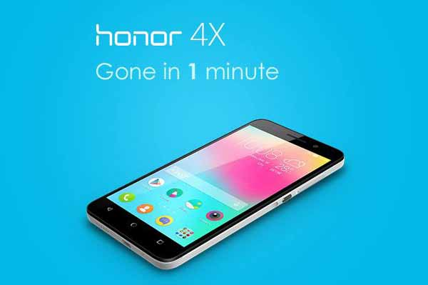 Honor 4X sold out within 1 minute of its first flash sale