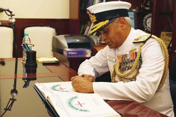 Vice Admiral Sunil Lanba takes over from Vice Admiral SPS Cheema as the Commander-in-Chief of Southern Naval Command