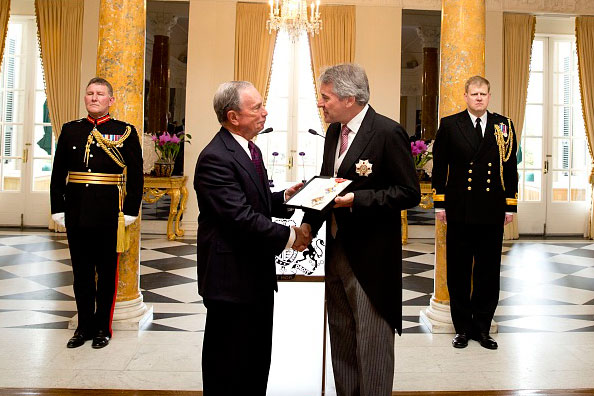 Michael Bloomberg Receives Honorary Knighthood
