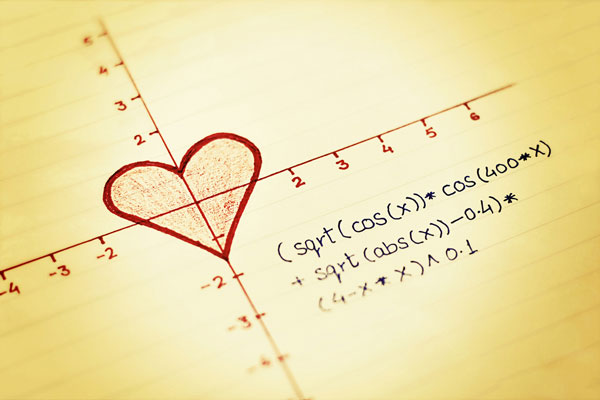 Love and maths go together!